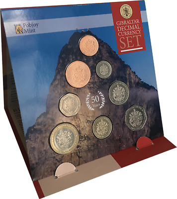2017 Gibraltar Decimal Currency Set - 50th Ann. 1967 Referendum - Coin Year Set