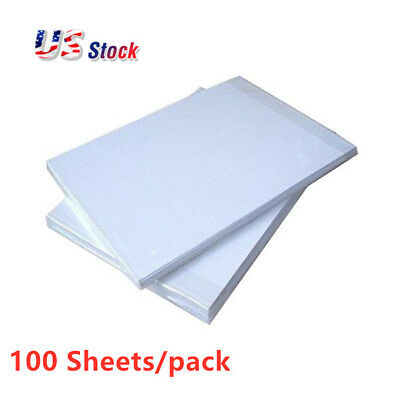 US Stock 100pcs A4 Dye Sublimation Heat Press Transfer Paper for Heat Printing