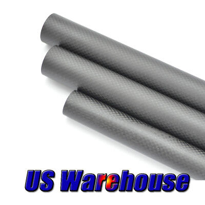 16m Carbon Fiber Tube OD16 x ID12x L500/1000mm 3K Rolled Wrapped CF Rod/Pipe US