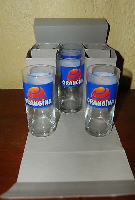 Lot de six verres Orangina Vintage