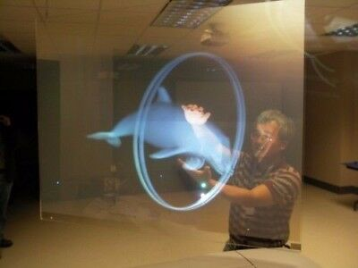 Transparant Holographic Rear Projection Screen Self Adhesive Screens 60*120CM