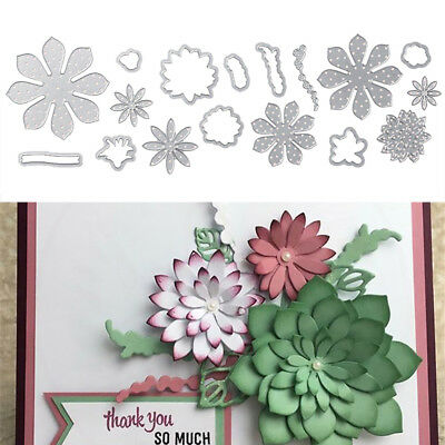 Metal Cutting Dies 3D Stamp Crafts Stencil Blossom Flower Embossing DIY Template