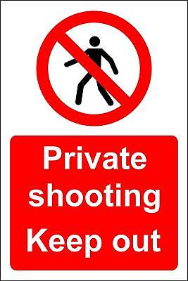 Private shooting keep out safety sign