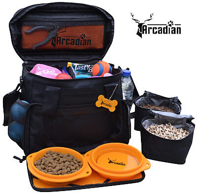 Dog Travel Bag by Arcadian - Convenient and Compact Bag with Multiple Storage