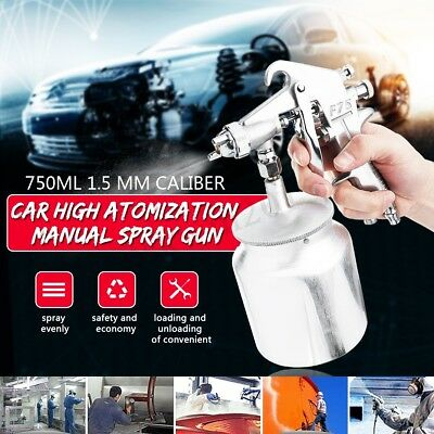 F75S Professional Air Compressor Paint Spray Gun Car Truck Sprayer DIY Tools