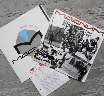 """Magnum - Need a lot of Love & Lonely Night (Remix) 12"""" Vinyl - 1987 Polydor"""