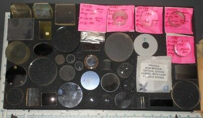 Laser Optical Mirrors Filters Prisms Optics Lenses Lot #1