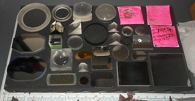 Laser Optical Mirrors Filters Prisms Optics Lenses Lot #2