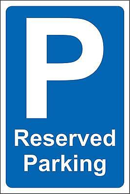 Reserved parking safety sign