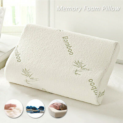 New Bamboo Luxury Memory Foam Pillow Anti-Bacterial Premium Support Pillow