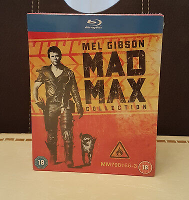 Mad Max Collection 1 - 3 - Blu ray UK Import Deutsch - NEU&OVP *OOP RAR*
