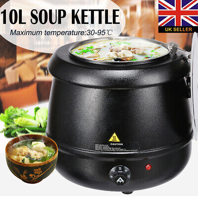 Electric Soup Kettle Food Warmer 450 Watt Cooker Warmer Pot 10Litres Up To 80°C