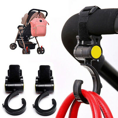 Shopping Bag Buggy Hooks For Pram Pushchair Stroller Clips Large Hand Carry njk