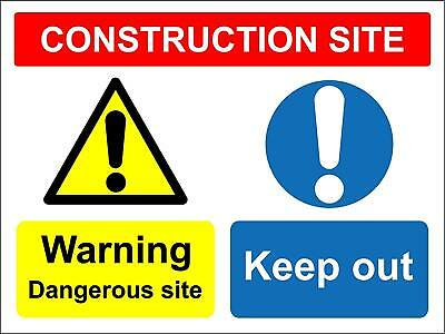 17x4cm Adhesive Symbol Warning Safety Hazard Danger Construction Site KEEP OUT