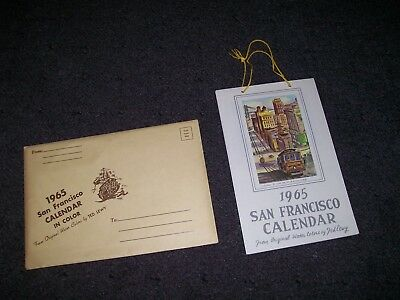 Vintage 1965 San Francisco Calendar Ted Lewy Water Colors