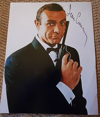 "SEAN CONNERY HAND SIGNED COLOUR 10"" x 8"" PHOTOGRAPH AS JAMES BOND FROM RUSSIA..."
