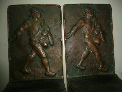 solid Bronze Bookends Black Americana Field Hands Plantation