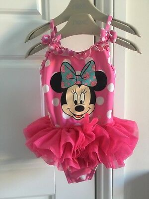 Baby Girls Swimsuit 6-9m Disney Minnie Mouse