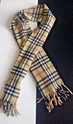 Burberry Scarf Unisex 100% Lambswool Champagne Color Not Camel Original  Vintage 173b03f7a0c