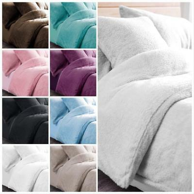 New Fluffy Teddy Bear Bedding Duvet Set Quilt Cover Extra furry Warm &Cosy Range