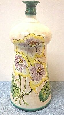 Vietri Pottery-8 inch vase with Floral pattern.Made/Painted by hand in Italy