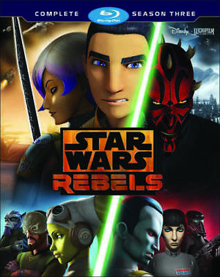 Star Wars Rebels: The Complete Season 3 (Third Season) (3 Disc) BLU-RAY NEW