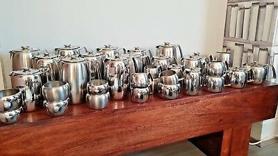 Old Hall Stainless Steel Teapots Coffee Pots Milk Jugs and Sugar Bowls (35 Pcs)