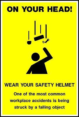 On your head! Wear your safety helmet Safety Poster