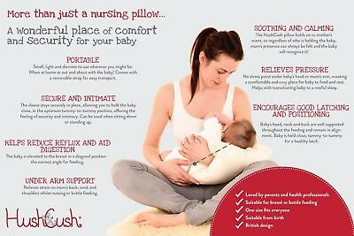 Hush-Cush Nursing Pregnancy Pillow Natural Breast Bottle Feeding Travel Cushion