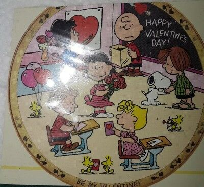 Peanuts - Danbury Mint Collectors Plate - Be my Valentine - Charlie Brown