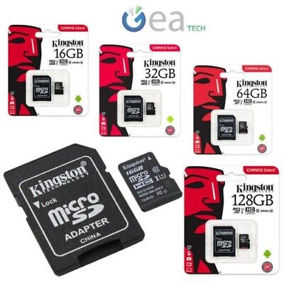 Kingston Microsd Clase 10 Original Memoria de 16 32 64 128 gb micro sd 80mb/s