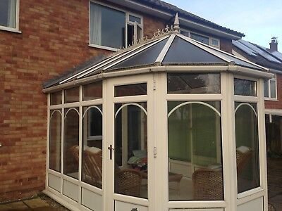 Used Victorian Style Conservatory White UPVC