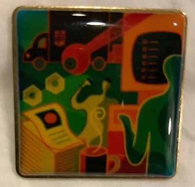 United Parcel Service Rare & Funky Lapel Pin With Retired Logo On Package Car.