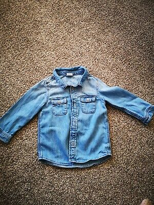 Boys Denim Shirt H&M 9-12 Months