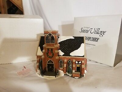 New Hope Church #54904 Department 56 Snow Village Retired Original Box No Lights