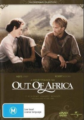 Out Of Africa DVD BRAND NEW BEST PICTURE+MUSIC Meryl Streep Robert Redford R4