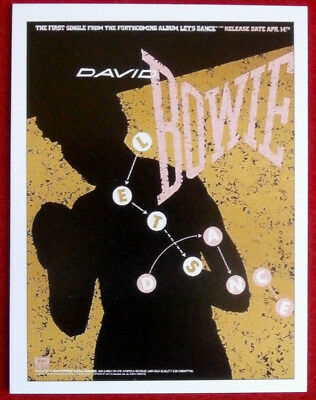 DAVID BOWIE - Individual Concert Tour Posters Trading Card #10 - Let's Dance
