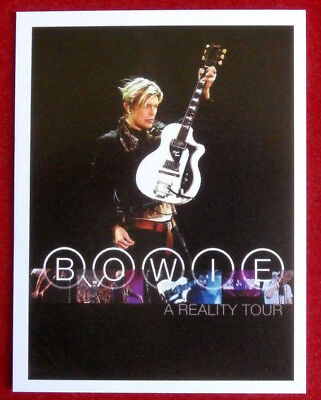 DAVID BOWIE - Individual Trading Card - Card #15 - A Reality Tour - issued 2010