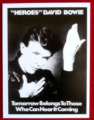 """DAVID BOWIE - Individual Concert Tour Posters Trading Card - Card #08 - """"Heroes"""""""