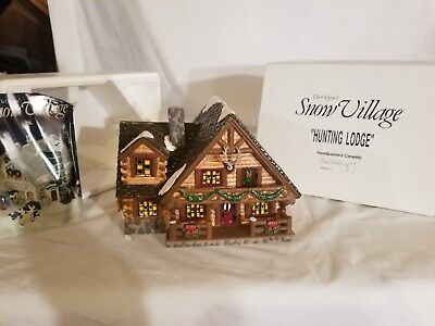 Original Department 56 Snow Village HUNTING LODGE #5445-3 Retired