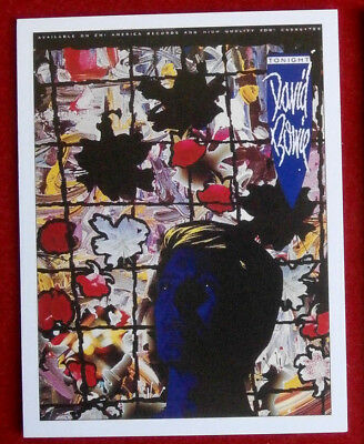 DAVID BOWIE - Individual Concert Tour Posters Trading Card - Card #11 - Tonight