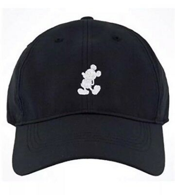 Disney Parks Mickey Mouse Nike Baseball Hat Dri Fit - Black (White Embroidery)