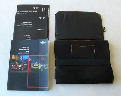 Genuine MINI Owners Handbook Case / Wallet / Book Pack for R56 / R57 Cabrio #2