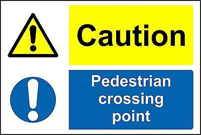 Caution pedestrian crossing point Safety sign