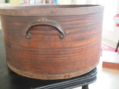 Vintage Wood Grain Dry Measure, Large, Daniel Cragin Mfr & Sealer, Wilton NH