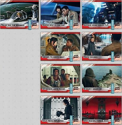 LAST JEDI SELECTS SERIES 2 WAVE 7 WHITE SET OF 9 Topps Star Wars Trader Digital