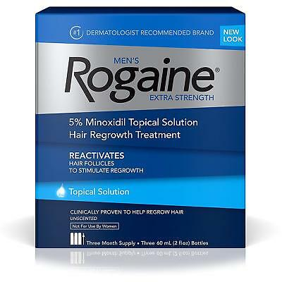 Rogaine Mens Extra Strength Topical Solution 3 Month Supply Unscented EX 02/2021