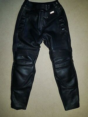 Akito Leather Motorcycle Trousers Ladies Size 18