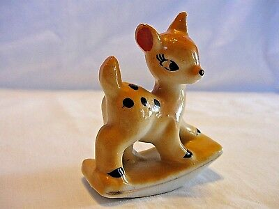 Vintage JAPAN~Fawn Deer Rocking Horse~CUTE! Nice Condition!