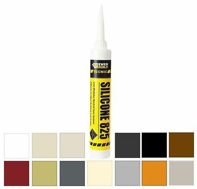 Everbuild 825 Alcoxy LM Silicone Sealant Neutral Cure Frame Wall Joints Builders